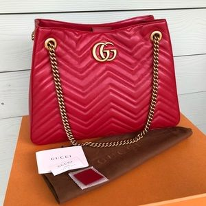 Authentic GUCCI Marmont Matelasse Shopper Tote